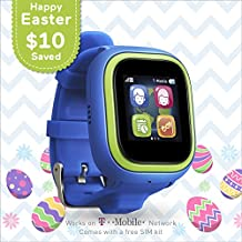 TickTalk 2.0 Touch Screen Kids Smart Watch, Easter Basket Stuffer, GPS Phone Watch, with New App, Top Rated Positioning Chip, Things To Do Reminder, Phone/Messaging (SIM CARD INCLUDED) (Blue)