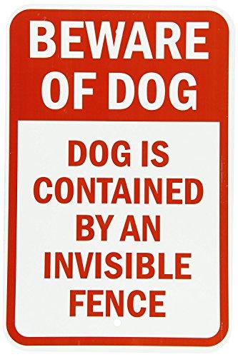Riuolo Aluminum Sign, Legend Beware of Dog-Dog Contained ...
