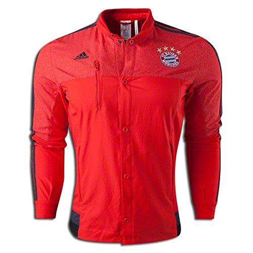 (Adidas Bayern Munich Anthem Jacket (Red, Dark Gray, Black) Xxl)