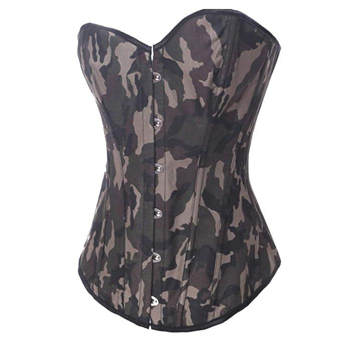 Amazon.com: Coolweary - Corsé de camuflaje para mujer ...