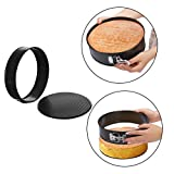 """Springform Cake Pan 4 Pieces (4""""/7""""/9""""/10"""") 1 Heart and 3 Round,Leakproof Nonstick Bakeware Cheesecake Pan with Removable Bottom"""