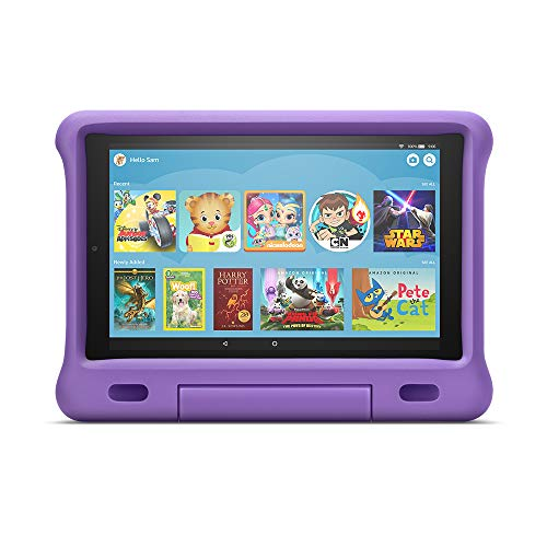 All-New Fire HD 10 Kids Edition Tablet – 10.1″ 1080p full HD display, 32 GB, Purple Kid-Proof Case