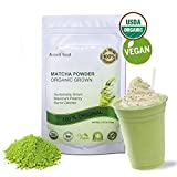 Avanti Food Organic Japanese Matcha Green Tea Powder - 100% Original USDA Organic Natural Ingredients Vegan Gluten Free NON-GMO for women men and kids 3.52 OZ(100g)