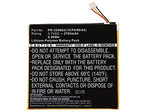 Synergy Digital Battery Compatible with Acer Iconia One 7 B1-770 Tablet Battery (Li-Pol, 3.7V, 2700 mAh) - Repl. Acer KT.0010H.003 Battery by Synergy Digital