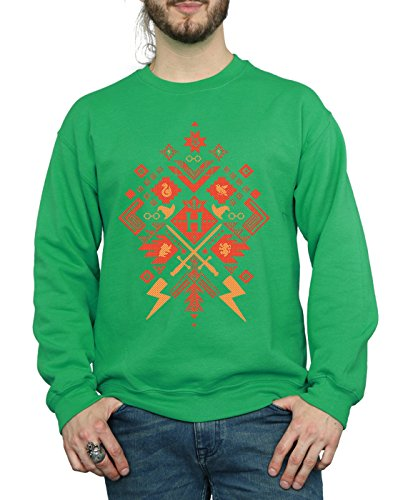 Verde Fair Potter Felpa Uomo Isle Harry Christmas Irlandés wgC6qTq