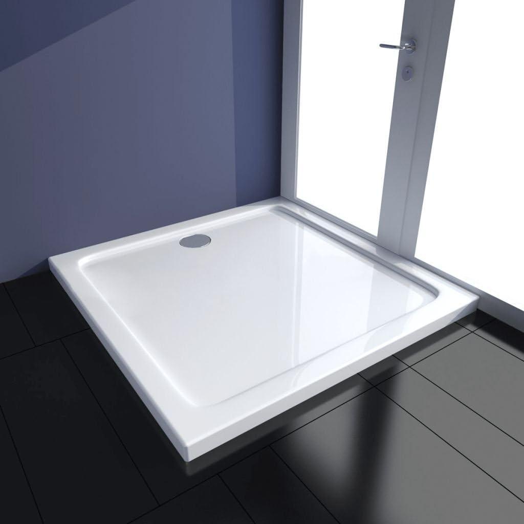 Plato de Ducha Blanco,Rectangular,ABS con Refuerzo de Fibra de Vidrio 90 x 90 x 4 cm: Amazon.es: Bricolaje y herramientas