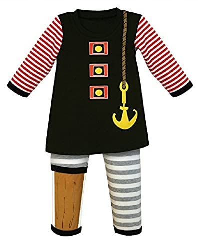Stephan Baby 2 Piece Boys Pirate Outfit (12-18 Months)