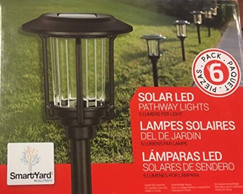 Amazon.com : Smartyard Solar Warm White LED Pathway Lights Pack of 6 | 6 Lumens/Light | Powder Coated Oil Rubbed Bronze Finish : Garden & Outdoor