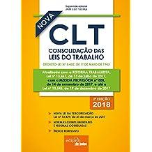 Mini Consolidação das Leis do Trabalho. CLT. 2018