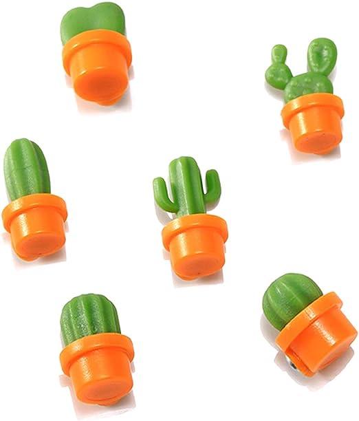 Amaoma 6 Piezas Cactus Imán Refrigerador Cactus Iman de Refrigerador Divertidos Imanes Decorativos Imanes Lindos para Pizarras Blancas, Tablero Magnético, Raya Magnética: Amazon.es: Hogar