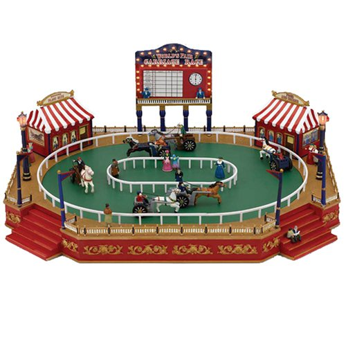 Mr. Christmas Gold Label Worlds Fair Animated Musical Miniature, Carriage Race