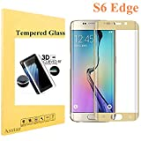 Galaxy S6 Edge Screen Protector [Full Coverage], Tempered Glass 9H 0.2mm Thinest Protection Armor Guard Shatterproof Fingerprint-free Bubble free Film for Samsung Galaxy S6 Edge (Gold)
