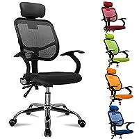 FEMOR Chaise Fauteuil de bureau Chaise pivotante pour ordinateur hauteur réglable