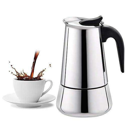 Robluee 100/200/300/450 ml - Cafetera Italiana con Filtro de Acero ...