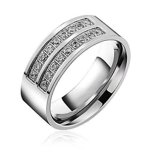 stainless steel ring cz - 6