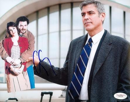 Autograph-Warehouse-49944-George-Clooney-Autographed-8-x-10-Photo-Actor-Jsa-Image-No-2