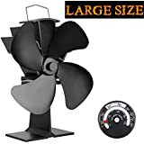 KINDEN Fireplace Fans 4 Blade   Heat Powered Stove Fan For Wood Log Burner  Ultra