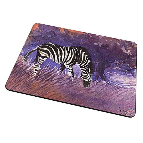Mouse Pad Trivet Hot Plate - Zebra at Twilight Equine Art by Denise (Zebra Trivet)