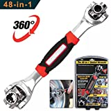 48 in 1 Multifunction Socket Tools Dog Bone Wrench Works with Spline Bolts, Torx, Square Damaged Bolts and Any Size Standard or Metric