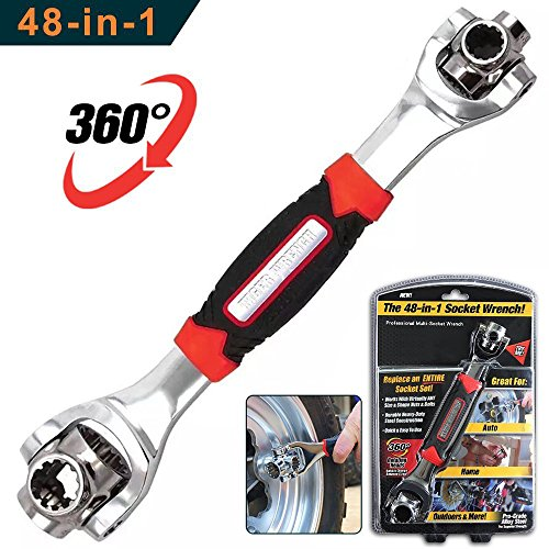 48 in 1 Multifunction Socket Tools Dog Bone Wrench Works with Spline Bolts, Torx, Square Damaged Bolts and Any Size Standard or Metric by XLANJINGJ