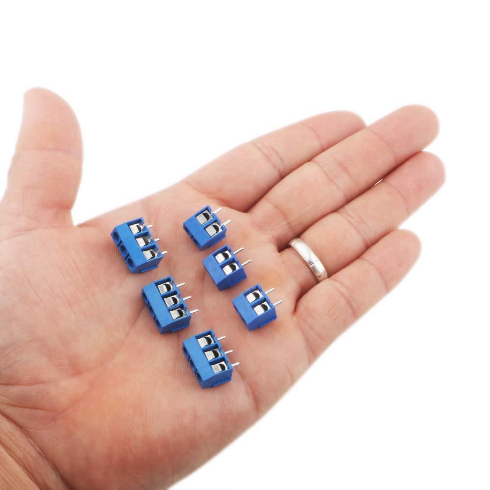 2PIN-65 Piezas, 3PIN-15 Piezas RUNCCI 80 Piezas 5mm 2 Pines//3 Pinesconector pcb 300 v 15a