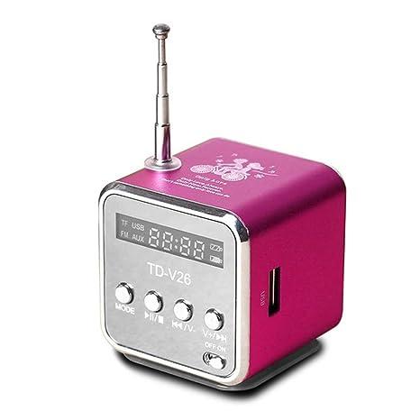 MALPYQ Altavoces portátiles con FM Mini Radio multifunción ...