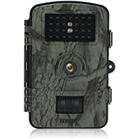 Boblov 70°Wide Angle Night Vision 2.4 LCD Display 26 Pics IR Leds 720P Waterproof PIR HD Hunting Trail Video Camera for Wildlife Observation and Scouting (Camouflage RD1003)