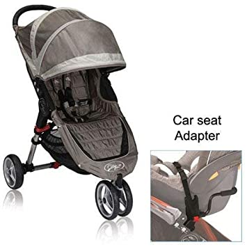 Baby Jogger City Mini Stroller In Sand Stone With A Car Seat Adapter