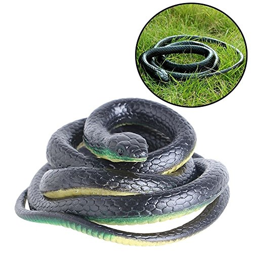Fake Snake Safari Garden Prop Joke Prank 130Cm Real Rubber - Okley Uk
