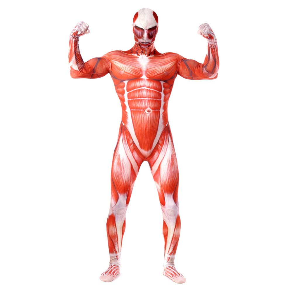 Attack On The Giants Muscle Pack Halloween Cosplay Costume Party Cosplay,Adult-S