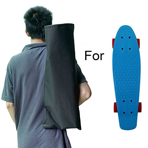 Cooplay Black Small Penny Banana Skateboard Backpack Mini Carry Bag 22″ 27″ 600D Nylon Longboard Board Handbag Straps – DiZiSports Store