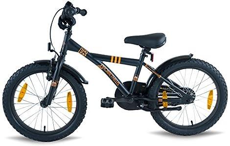 prometheus bicycles prometheus kinderfahrrad 18 zoll jungen und m dchen in schwarz matt orange. Black Bedroom Furniture Sets. Home Design Ideas