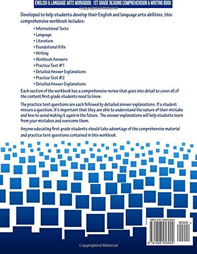 Math Worksheets fun middle school math worksheets : English & Language Arts Grade 1 Workbook: First Grade Reading ...
