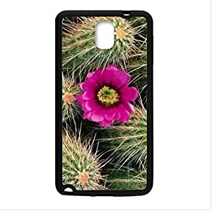 Beautiful Cactus Flower Design Desert Cactus Sunset Samsung Galaxy Note 3 III TPU (Laser Technology) Case, Cell Phone Cover