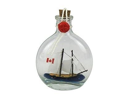 Bluenose velero en un botella de cristal 4 Inch – Barco En Una Botella – Maqueta