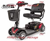 Golden Technologies - Buzzaround XL - Travel Scooter - 4-wheel - Red - PHILLIPS POWER PACKAGE TM - TO $500 VALUE