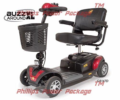 Golden Technologies - Buzzaround XL - Travel Scooter - 4-wheel - Red