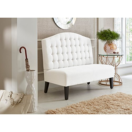 Sofaweb.com Ivory Tufted Upholstered Banquette Bench (Benches Banquette)