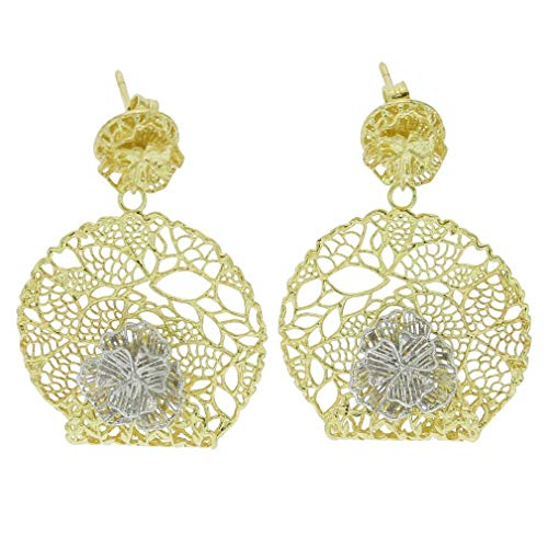 (GlassOfVenice Italian Rose Sterling Silver Gold-Plated)