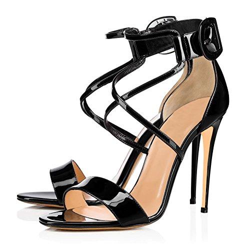 Altissimo Dance Cinturini Black Pole Sexy Elegante KJJDE TLJ Tacco Donna Sexy Caviglia Alla Aggiornamento B4 Tacco Con Alto 4aq7TUx4