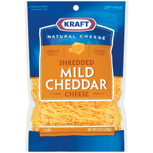 KRAFT CHEESE MILD CHEDDAR SHREDDED 8 OZ PACK OF 3