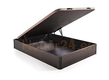 HOGAR24 ES Canapé Abatible Madera Gran Capacidad con Tapa 3D y Válvulas de Transpiración, con Esquineras en Madera Maciza, Color Wengué, 150X190: Amazon.es: ...