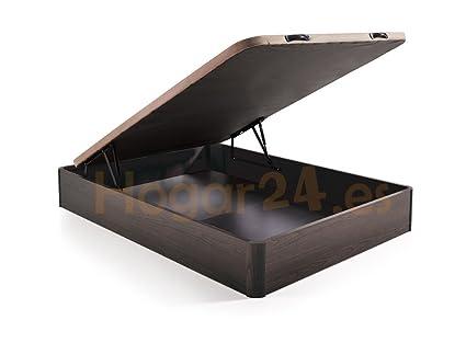 HOGAR24 ES Canapé Abatible Madera Gran Capacidad con Tapa 3D y Válvulas de Transpiración, con