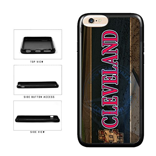 BleuReign(TM) Hashtag Cleveland #Cleveland Baseball Team TPU RUBBER SILICONE Phone Case Back Cover For Apple iPhone 8 and iPhone 7 (Cleveland Indians Iphone 4s Case)