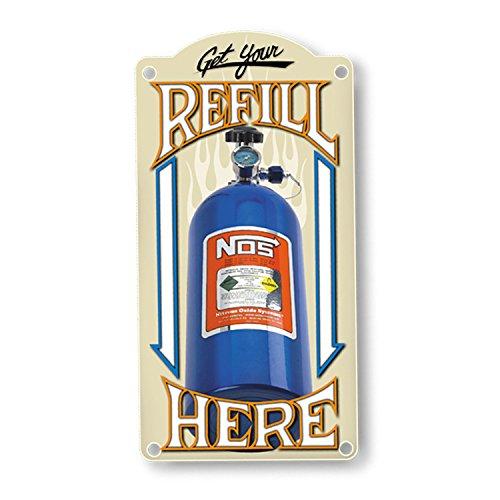 Nitrous Refill - NOS 19326NOS NOS Refill Metal Sign