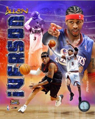 "Allen Iverson Philadelphia 76ers NBA Composite Photo (Size: 8"" x 10"")"