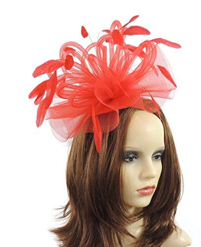 Rosso Para Cressida By Mujer Hats Única Pamela Rojo Talla xYRgwMtq6