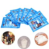 Datingday 10 Pcs 9g SAP Magic Instant Fake Fluffy Snow Super Absorbant Christmas Wedding Decor