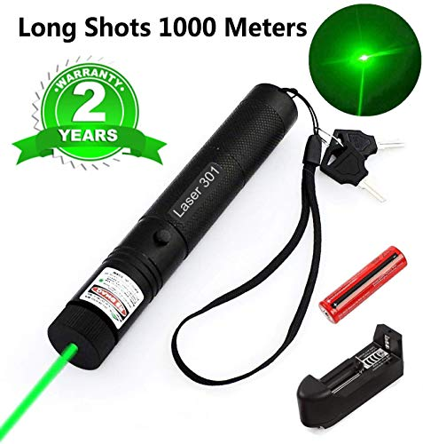 Green Laser Pointer Tactical Hunting Rifle Scope Sight Laser Pen, Demo Remote Pen Pointer Projector Travel Outdoor Flashlight, LED Interactive Baton Funny Laser Toy