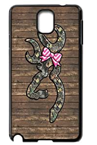Samsung Galaxy Note 3 N9000 Hard Shell Case Back Cover - Browning Logo by icecream design